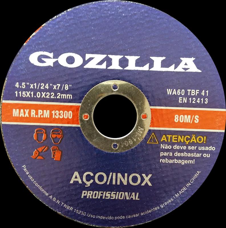 Fornecedor de Disco de Corte de Ferro Santo Antônio do Descoberto - Disco de Corte Inox 125 Mm