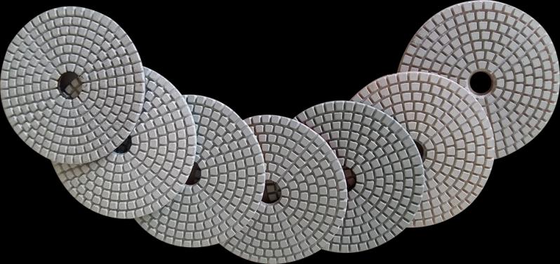 Lixas Diamantadas para Porcelanato Brasilândia - Lixa Diamantada Brilho D'água